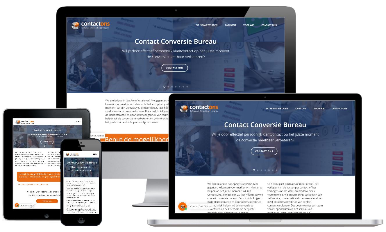 Contactons.nl responsive website