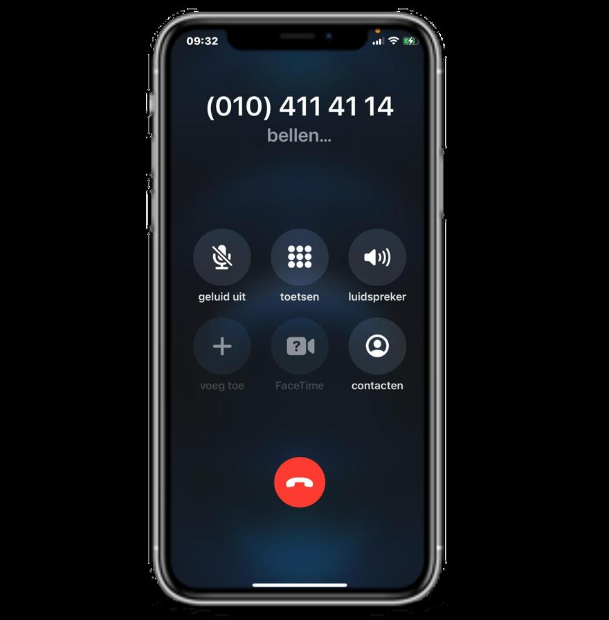 Lokaal telefoonnummer ContactOns iphone