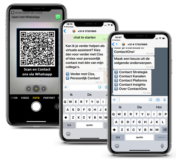 Smart Combinations Whatsapp Chatbot ContactOns.nl