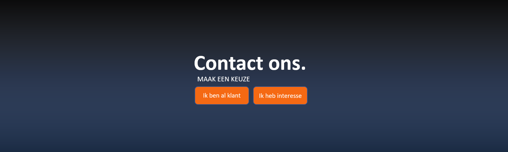 Contact ons. Contactpagina